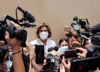 Cristiana Chamorro sostiene su inocencia en su segunda comparecencia ante interrogadores de la Fiscalía. Foto: DW