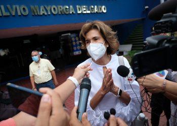 Vilma Núñez de Escorcia: «Aquí lo que se está pretendiendo consumar es la inhibición (presidencial) de Cristiana Chamorro». Foto: Divergentes.