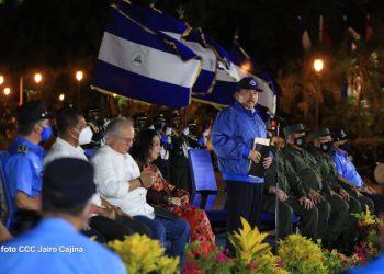 Daniel Ortega, durante la conmemoración del aniversario del natalicio de Augusto C. Sandino. Foto: CCC