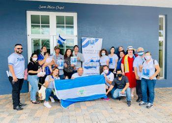 Nicaragüense en Estados Unidos conmemoran dos años del asesinato de Eddy Montes. Foto: Artículo 66 / Cortesía