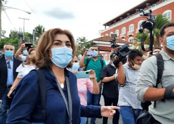 María Lilly Delgado. corresponsal de Univisión, imputada en caso Cristiana Chamorro. Foto: N. Pérez/Artículo 66