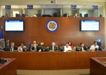 Sesión virtual ordinaria del Consejo Permanente de la OEA sobre la situación de Nicaragua / Foto: Redacción Abierta