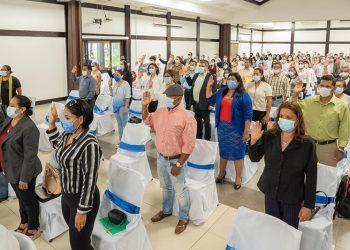CSE del régimen juramenta a los Consejos Electorales para las elecciones en noviembre. Foto: Gobierno