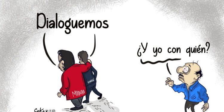 La caricatura: La espera del dictador.
