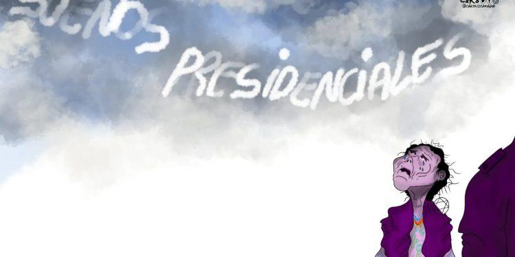La Caricatura: Se resuelve el enigma de qué miraba la compañera