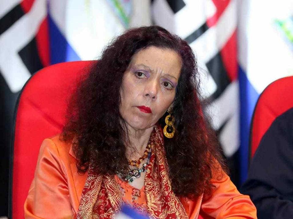 Vicedictadora Rosario Murillo habla de «integridad, que es no tocar lo que no es de uno» y dice que Dios la guía en lo que hace. Foto: Internet.
