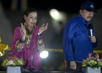 Daniel Ortega y Rosario Murillo, dictadores de Nicaragua. Foto: Artículo 66/EFE