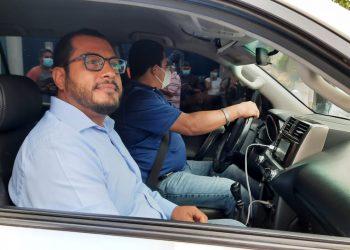 Precandidato presidencial Félix Maradiaga fue «emboscado» y detenido en medio de gran violencia y amenazas de muerte. Foto: N. Miranda/Artículo 66.