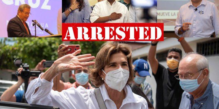 Cuatro precandidatos presidenciales arrestados, el régimen de Ortega, en cacería de opositores