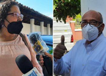 Patricia Orozco y Cirilo Otero comparecen ante la Fiscalía General. Foto: Artículo 66