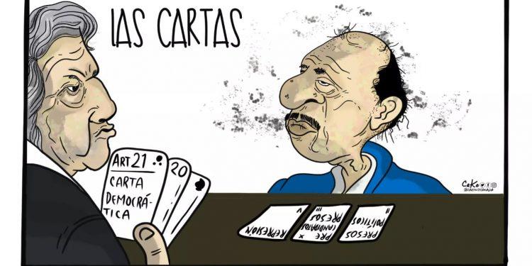 La Caricatura: Las cartas sobre la mesa
