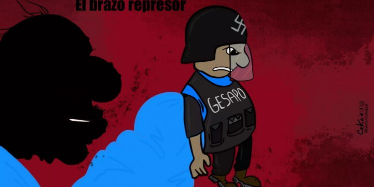 La Caricatura: El brazo represor, La Gesapo