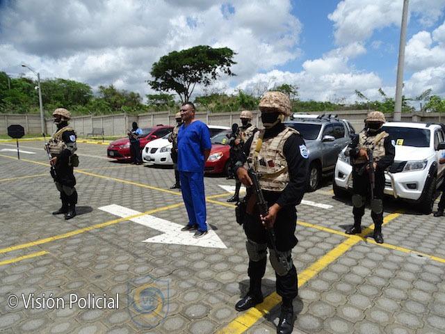 Capturan a David Campbell, máximo líder en Honduras del MS-13. Foto: Policía de Nicaragua