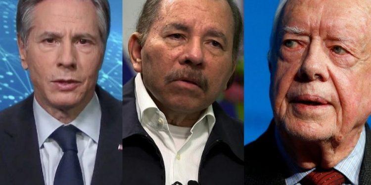 Blinken y Carter conversan sobre el «progresivo deterioro» en Nicaragua