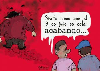 La Caricatura: La decadencia del 19 de julio