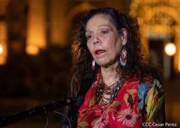 Rosario Murillo culmina la semana «exhortando» a no hablar «malignidades ni falsedades». Foto: Artículo 66 / Gobierno