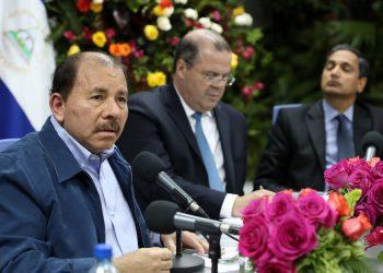 Incertidumbre en Nicaragua debería alarmar a inversionistas, indica Estados Unidos . Foto: Daniel Ortega durante una reunión con representantes del FMI sobre Nicaragua, en mayo de 2017. Prensa oficialista.