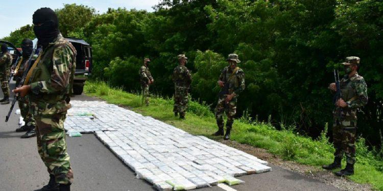 Ejército ejecuta otro «quiebre» de drogas sin narcotraficantes capturados. Foto: Medios oficialistas.