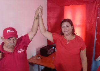 PLC oficializa a María Dolores Moncada como candidata a la vicepresidencia junto a Milton Arcia como candidato a presidente. Foto: N. Miranda/Artículo 66.