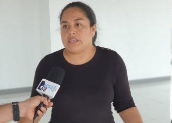 Dirigente opositora y exrea política Ivania Álvarez se exilia ante el acoso policial ordenado por la dictadura en su contra. Foto: Artículo 66.