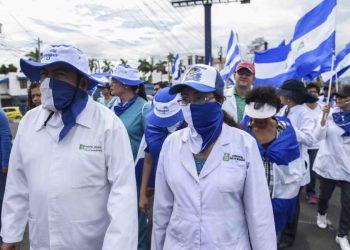 31 de julio 2018 marcha de los médicos en Nicaragua. Foto: La Prensa/ Roberto Fonseca