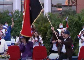 Rosario Murillo y Daniel Ortega, los más ridiculizados durante el «42/19». Foto: Redes sociales