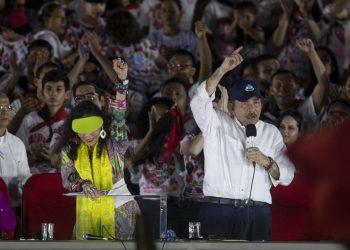 Rosario Murillo y Daniel Ortega, el matrimonio presidencial de Nicaragua. Foto: Artículo 66/EFE