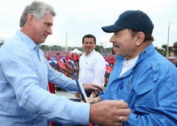 Miguel Díaz Canel y Daniel Ortega. Foto: CCC