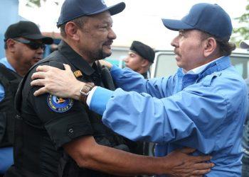 Se cumplen tres años de que Daniel Ortega se «replegó» en la Policía de Masaya. Foto: Artículo 66 / Internet