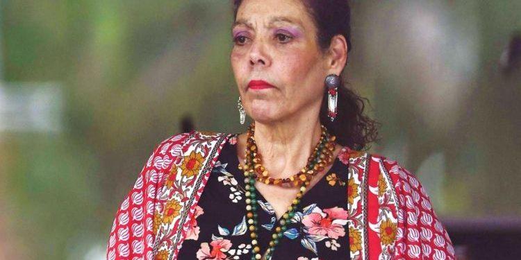 Rosario Murillo arremete contra la comunidad internacional asegurando que pretenden «sobornarles». Foto: Internet.