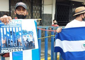 Exiliados nicaragüenses en Costa Rica organizan «lunes de protesta»