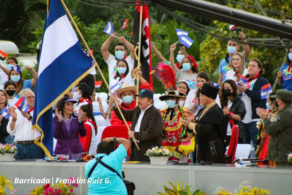 Daniel Ortega instiga a sus seguidores a tomar fusiles: «El pueblo armado jamás será aplastado». Foto: Medios oficialistas