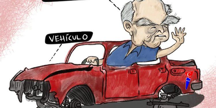 La Caricatura: El chofer del vehículo de Kitty Monterrey