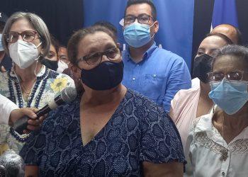 Madres de Lesther Alemán y Max Jerez: «Nuestros hijos son inocentes. Los asesinos es el régimen». Foto: Artículo 66/ Noel Miranda.