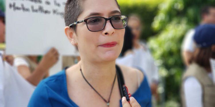 Ana Margarita Vijil, opositora y miembro de Unión Democrática Renovadora. Foto: Geovanny Shiffman/Artículo 66