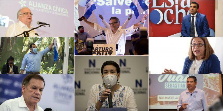 Ocho opositores nicaragüenses son acusados formalmente por la Fiscalía al servicio del régimen de Ortega