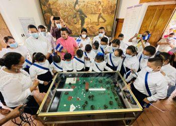 En un acto desde la Hacienda San Jacinto, lel Ministerio de Educación inauguró las Fiestas Patrias 2021. Foto: Mined.