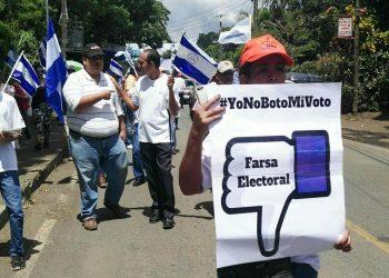Coalición Nacional reitera que elecciones son amañadas, y una «farsa triste y dolorosa para el pueblo de Nicaragua». Foto: La Prensa.