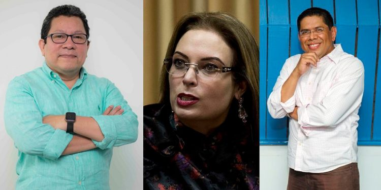 Dictadura acusa y decreta prisión preventiva contra Miguel Mora, Miguel Mendoza y María Fernanda Flores. Foto: La Prensa.