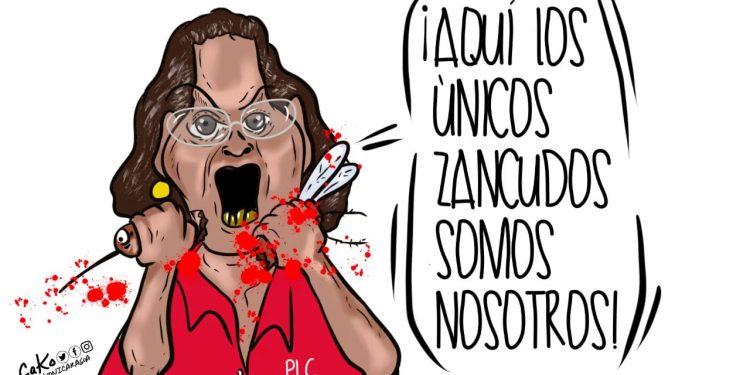 La Caricatura: Canibalismo político. Cako. Nicaragua