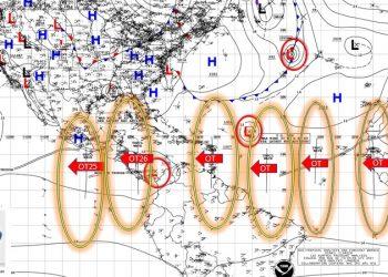 Nicaragua espera una semana lloviosa con el paso de una onda tropical y un sistema de bajas presiones. Foto: Cortesía Ofena.