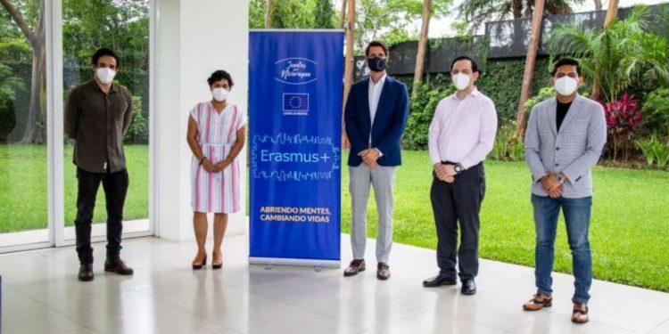 Cuatro nicaragüenses ganan beca Erasmus para estudiar maestría en Europa. Foto: Cortesía.