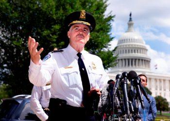 Se rindió el hombre que desató amenaza de bomba cerca del Congreso de EEUU. Foto: EFE.