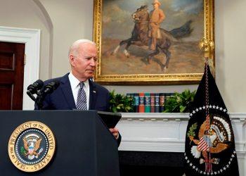 Joe Biden recibe informe de inteligencia sobre el origen del COVID-19. Foto: EFE.
