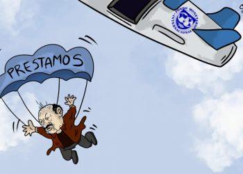 La Caricatura: FMI salvando la caída del dictador