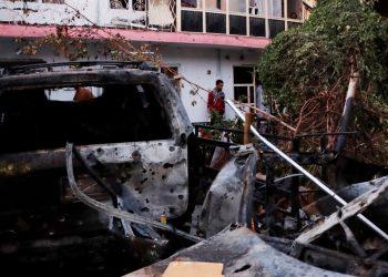 EE.UU. lanza un ataque en Kabul contra vehículo con supuestos miembros del EI. Foto: EFE.