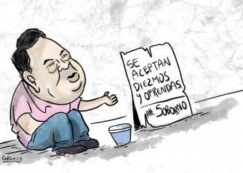 La Caricatura: Se aceptan diezmos y ofrendas