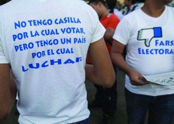 Se repite la misma campaña de 2016, cuando la oposición llamó al «no voto». Foto: Internet.