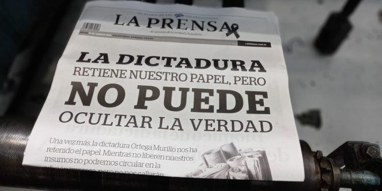 La Prensa sin insumos luego de la retención aduanera por parte del régimen. Foto: Artículo 66 / Noel Miranda