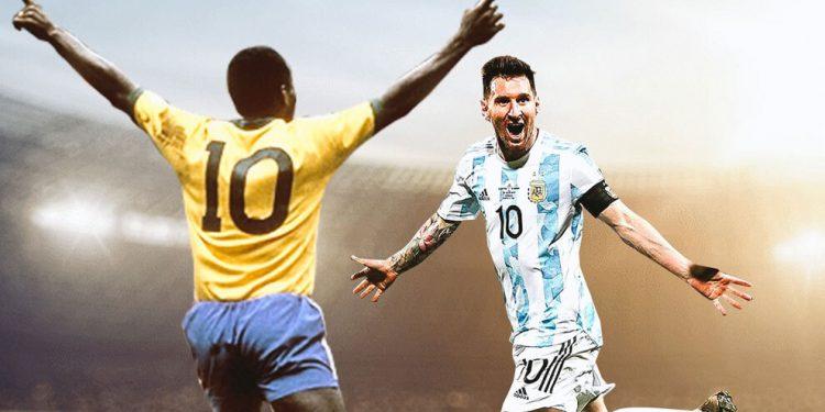 Pelé felicita a Messi por superar su récord de goles con selecciones